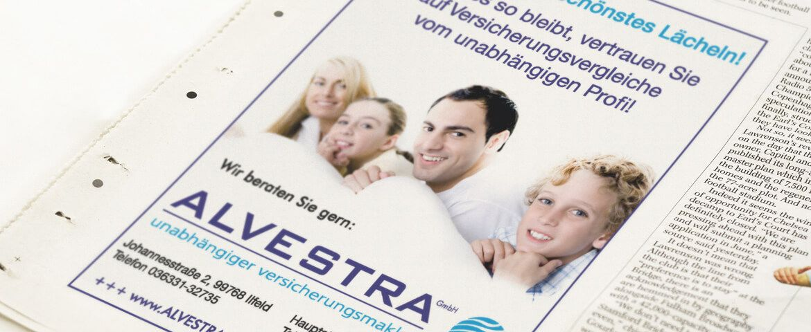 Alvestra GmbH Newspaper Adverstising