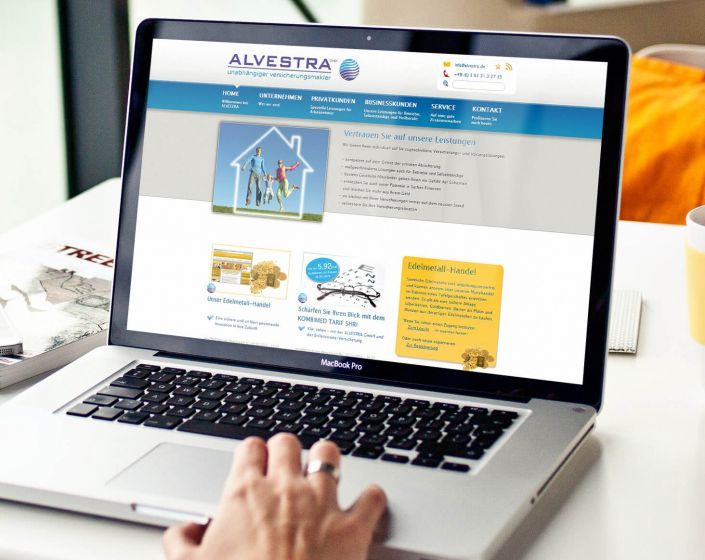 Alvestra GmbH Website